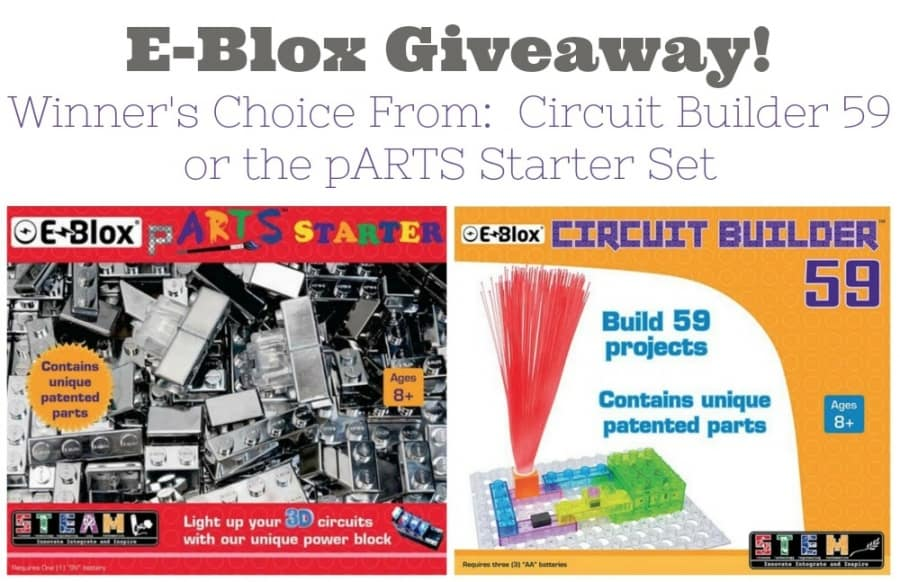 E-Blox Circuit Building Set STEM Review + Giveaway