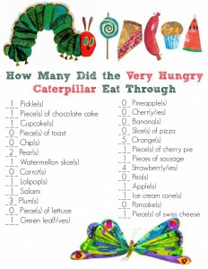 The Very Hungry Caterpillar Answer Key