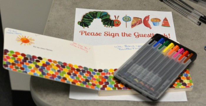 The Very Hungry Caterpillar Guest Book