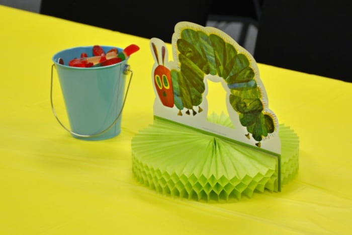 The Vey Hungry Caterpillar Baby Shower Center Pieces