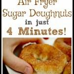 An Awesome 4-Minute Air Fryer Sugar Doughnut Recipe