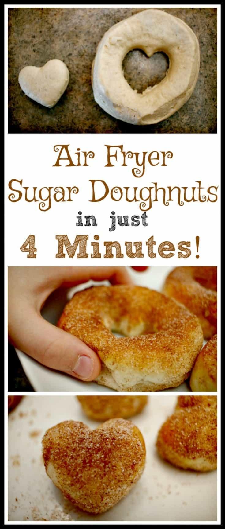 An easy 4 minute air fryer doughnut recipe