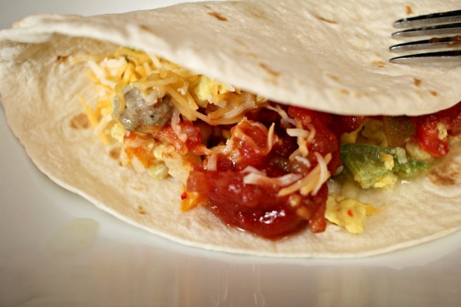Easy Breakfast Skillet Burritos Recipe