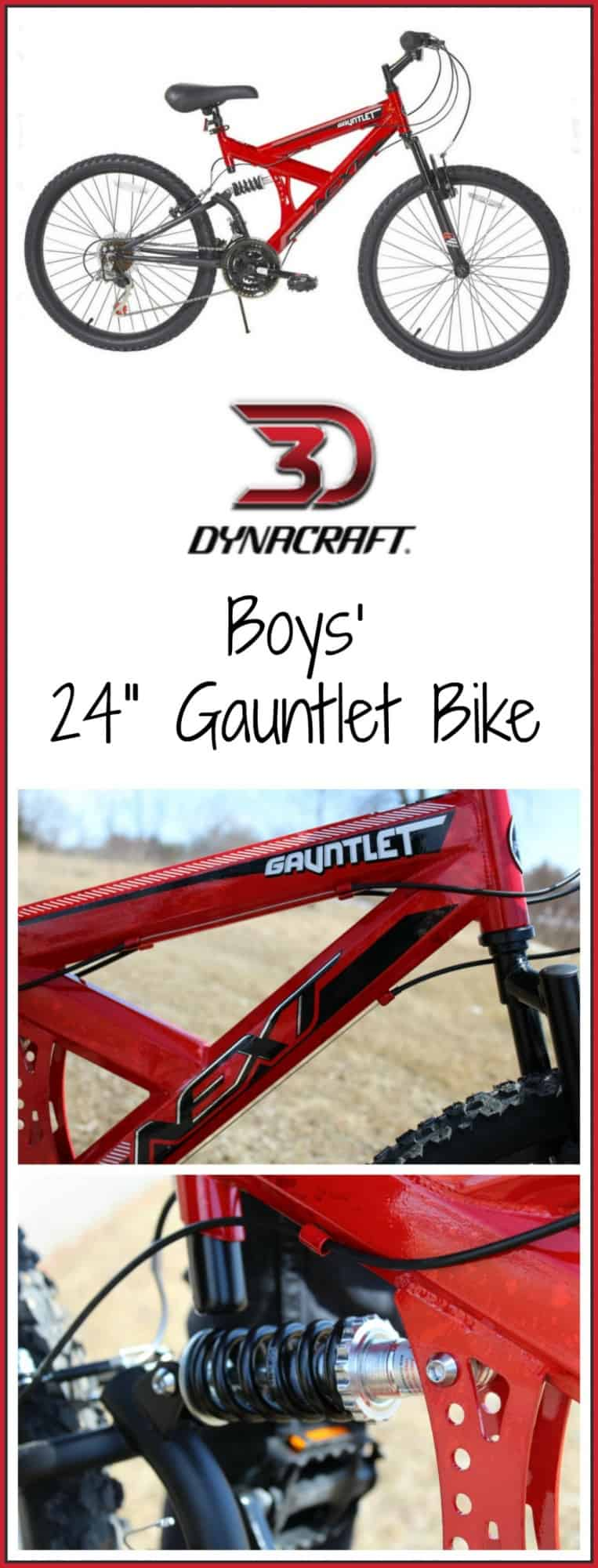 "Dynacraft NEXT 24"" Boys' Gauntlet Bike"