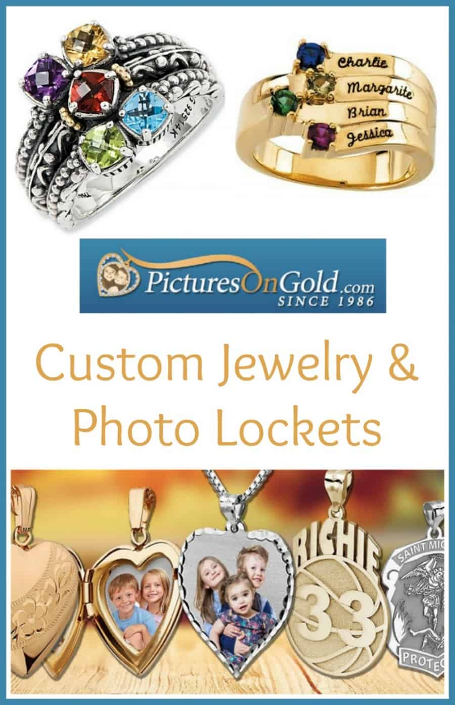 Unique PicturesOnGold.com Custom Jewelry For Mom