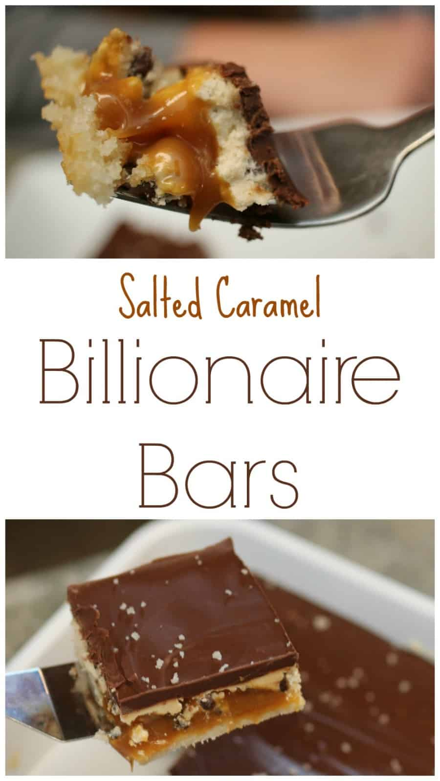 Salted Caramel Billionaire Bars Recipe