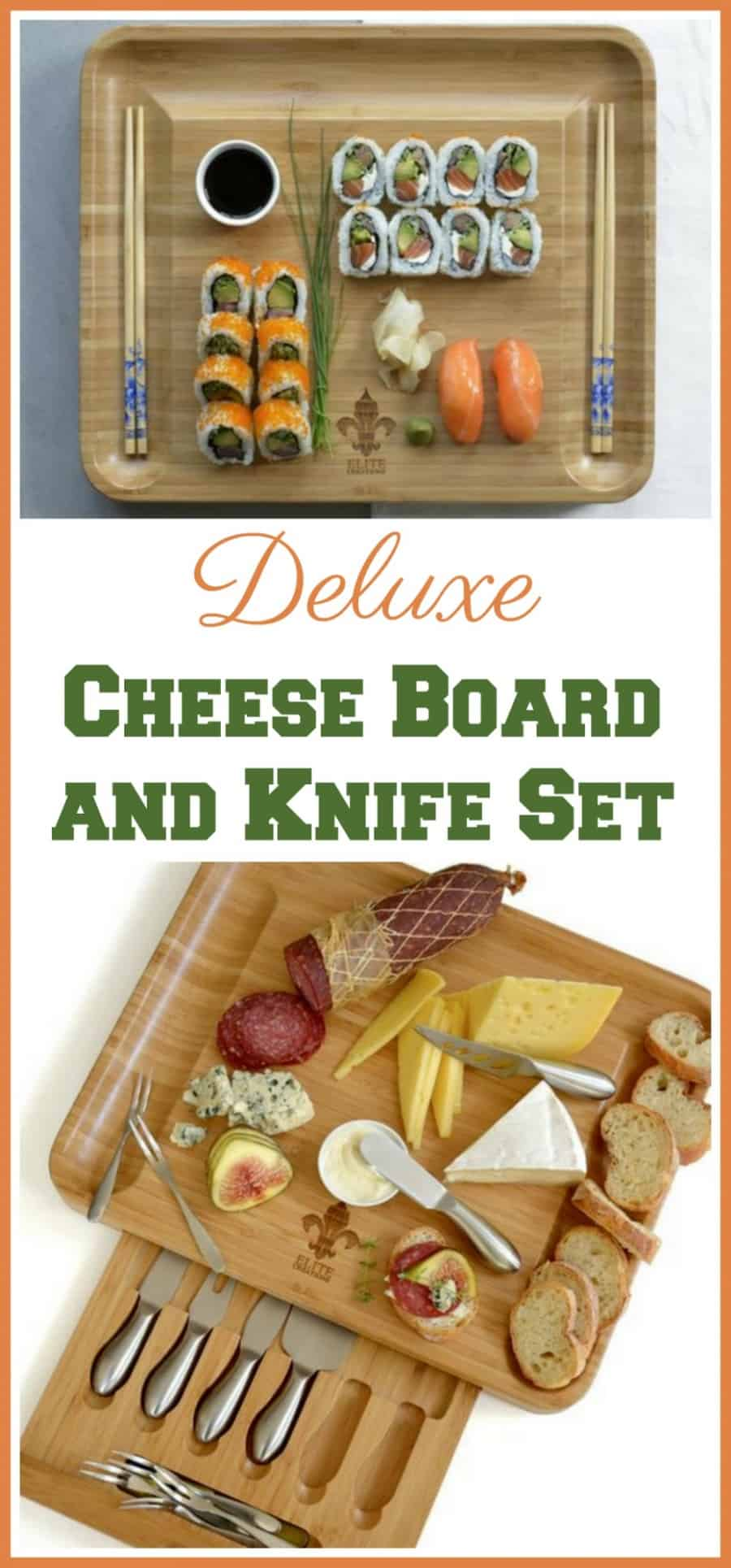 Deluxe Cheese Board and Knife Set