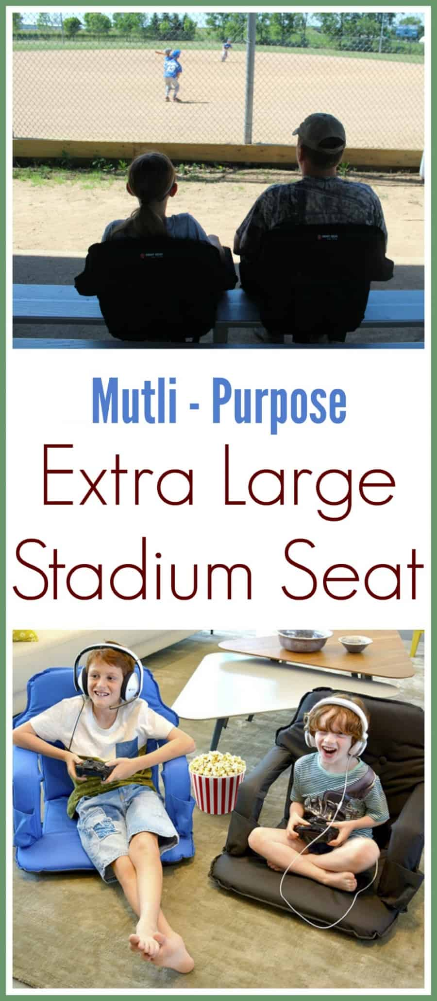 Extra Large Stadium Seat - Perfect for games, beach, gameroom, lawn, & everywhere!