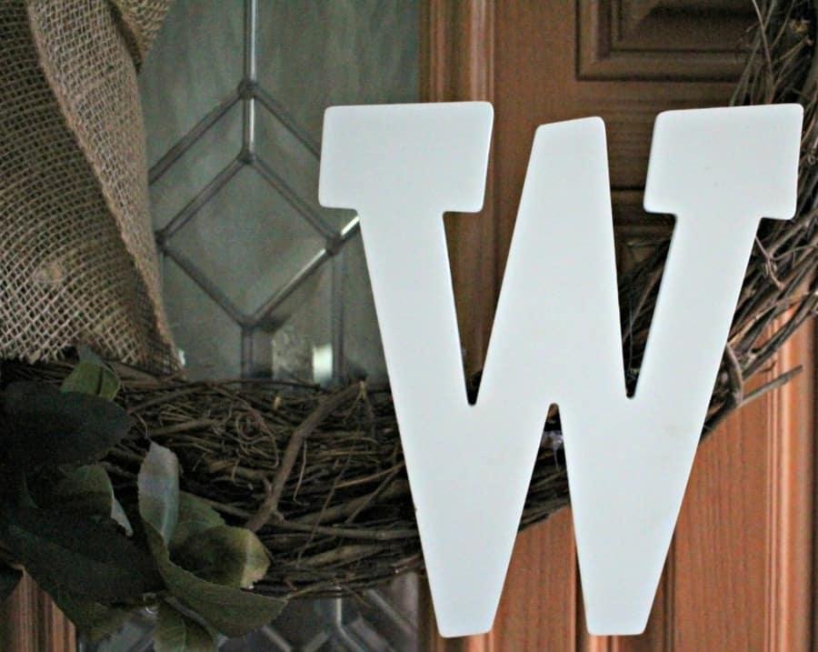 Make Your Own Custom Grapevine Door Wreath {DIY Instructions}