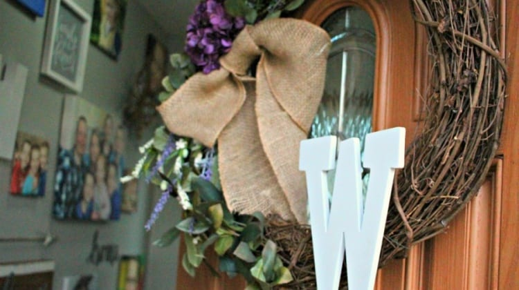 Make Your Own Custom Front Door Wreath {DIY Instructions}