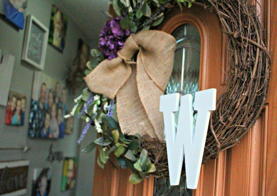 Make Your Own Custom Front Door Wreath {DIY Instructions}