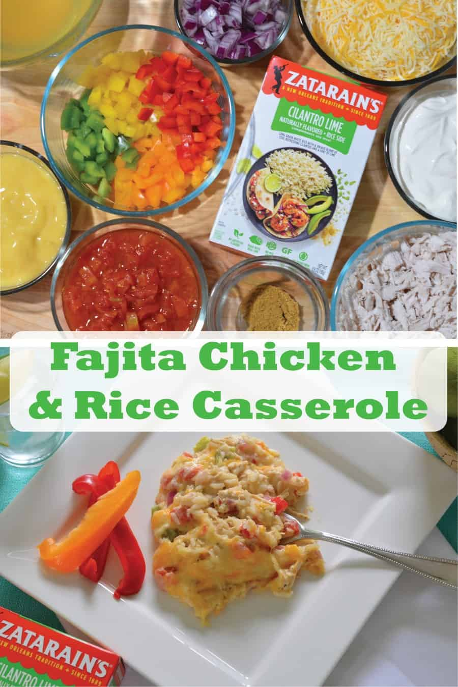 Fajita Chicken and Rice Casserole