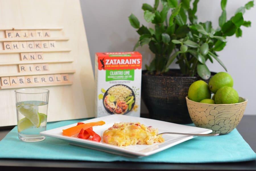 Fajita Chicken and Rice Casserole