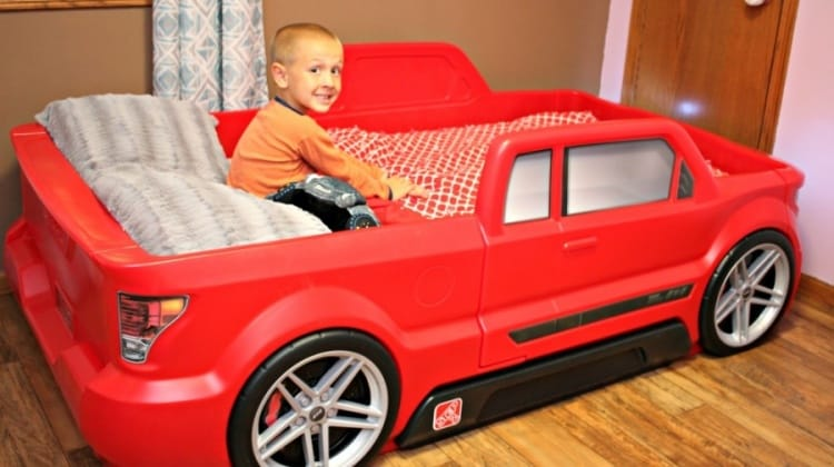 10 Ways To Get Your Toddler To Sleep Better {+ Step2 TurboCharged Truck Bed Giveaway!}