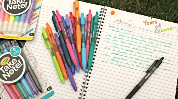 Preparing Tweens For The School Year {With Crayola's Take Note! Line Giveaway}