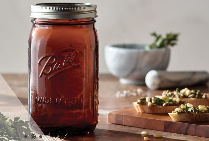 Easy Plum Apple Jelly Recipe + Ball Amber Jars