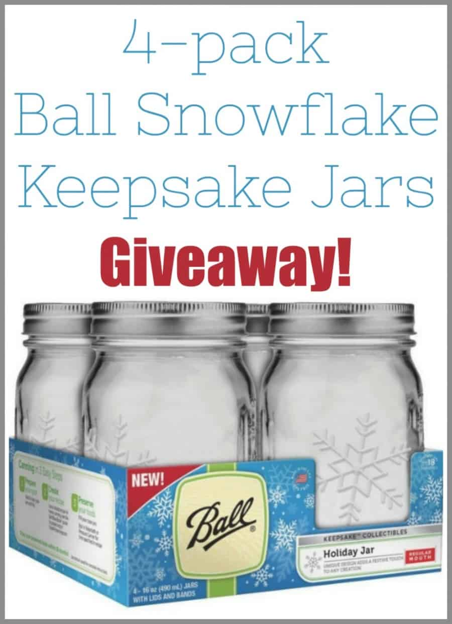 Ball Canning Snowflake Keepsake Jars Giveaway