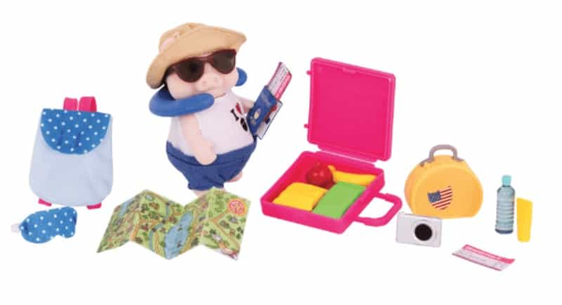 Li'l Woodzeez Pig Travel Set