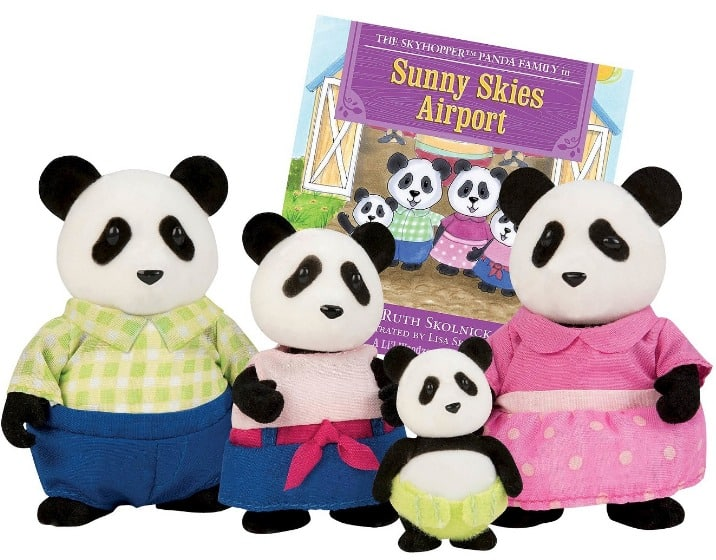 Li'l Woozeez The SkyhopperTM Panda Family with storybook