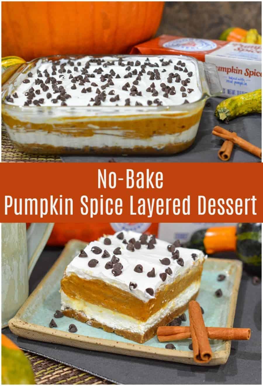 No Bake Pumpkin Spice Layred Dessert