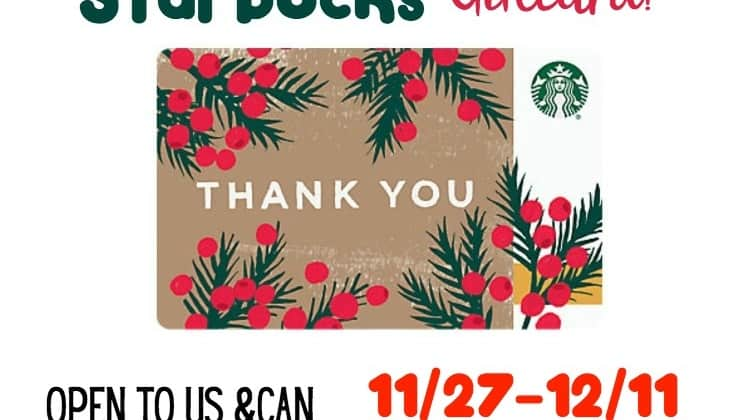 Win a $25 Starbucks Gift Card!