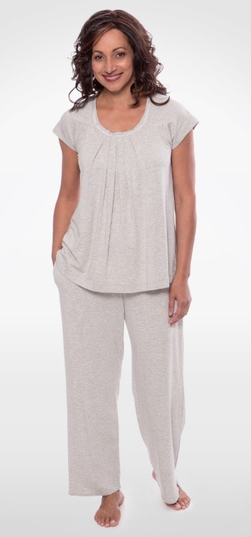 TexereSilk Bamboo Pajamas- Bamboo Bliss SHORT SLEEVE BAMBOO VISCOSE PJ SET