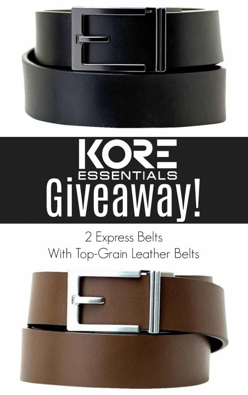 KORE Essentials Men's Track Belts Giveaway