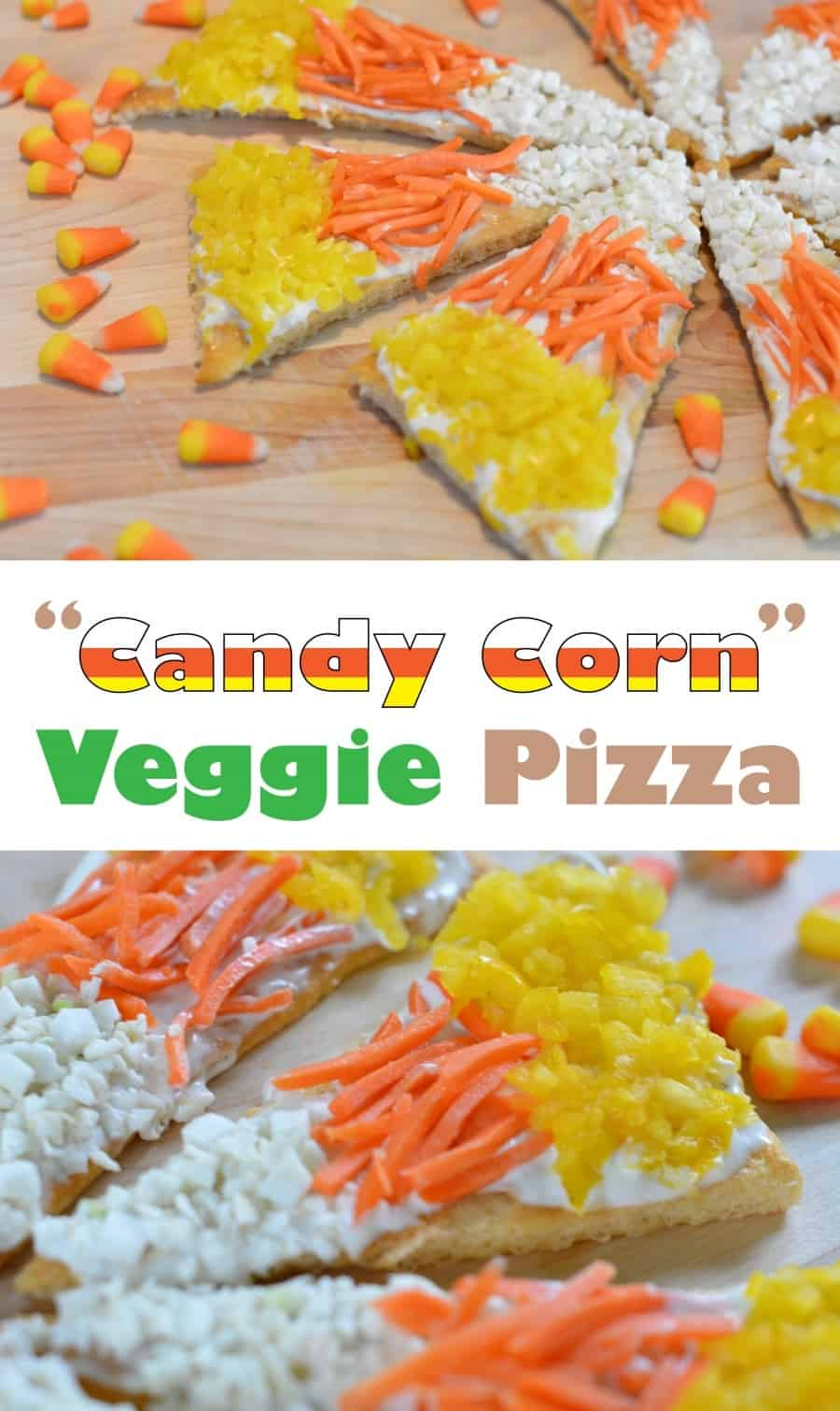 Candy Corn Veggie Pizza