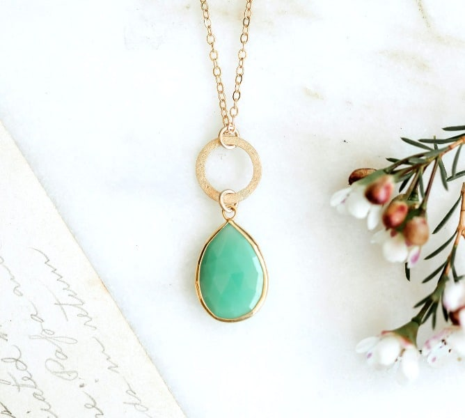 Lisa Leonard Designs cool water clear sky necklace {10k gold + filled}