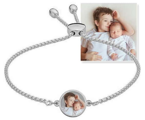 PicturesOnGold.com Custom Engraved Photo Bracelet