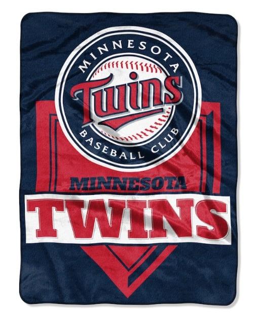 TheNorthwest Minnesota Twins MLB Home Plate Raschel Throw