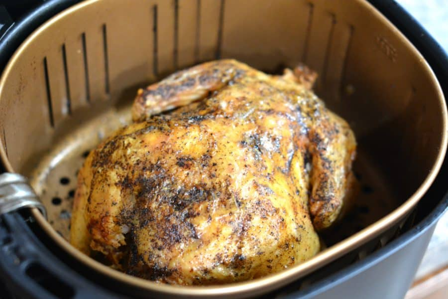 how to cook a whole chicken in an air fryer. It's so simple!