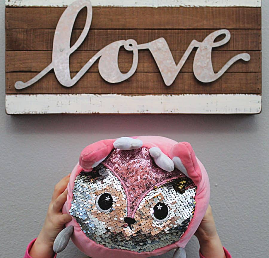 Moosh-Moosh Review Animal Cuddle Pillows WITH SEQUINS
