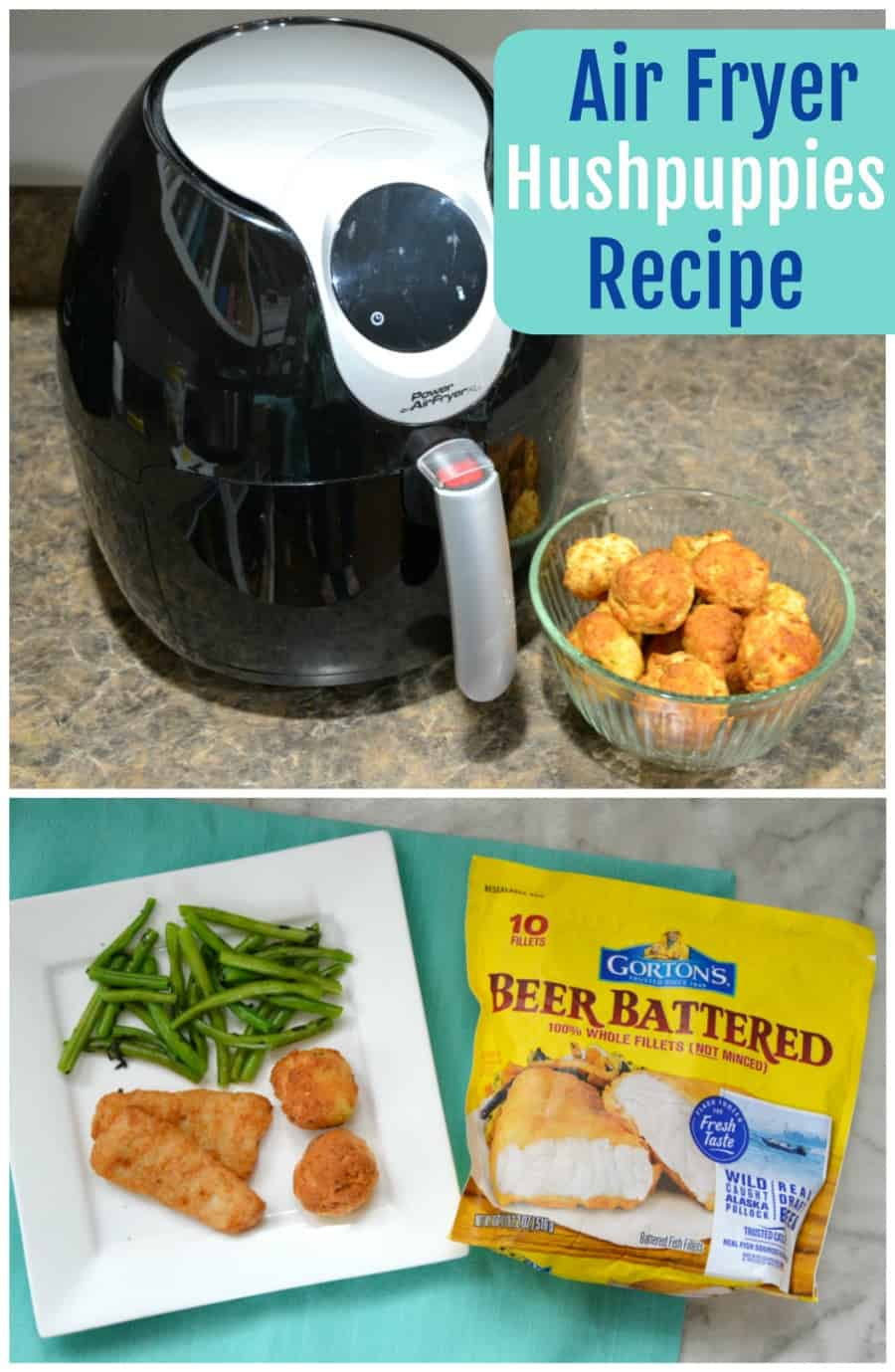 Air Fryer hushpuppies recipe