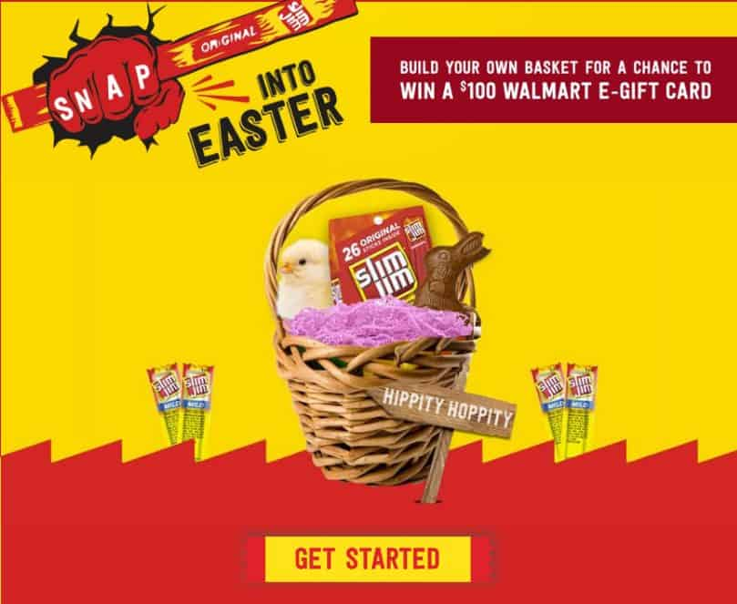 Slim Jim Easter Basket
