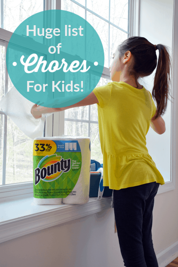 Huge list of Chores for Kids