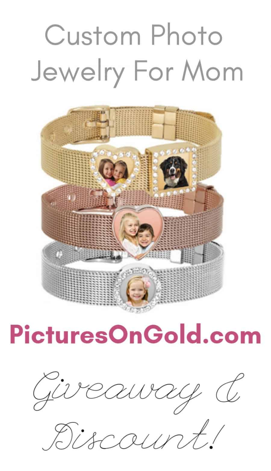 Custom Photo Jewelry For Mom From PicturesOnGold.com Review + Discount