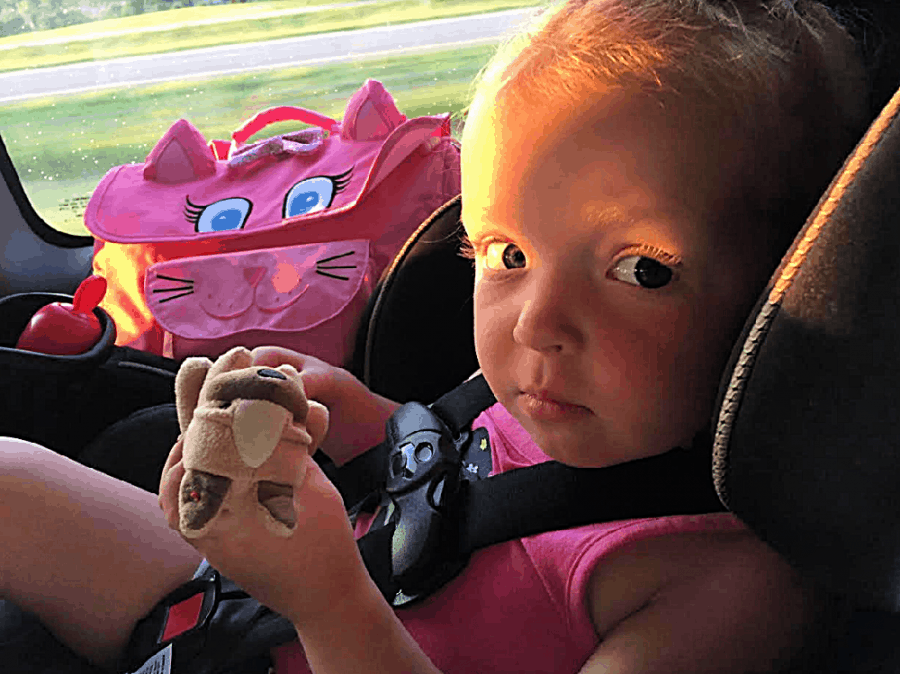 Little Girl On Car Ride - Happy 16th BIRD-day, Pigeon! + Affordable Mess-Free Portable Snacks For Kids