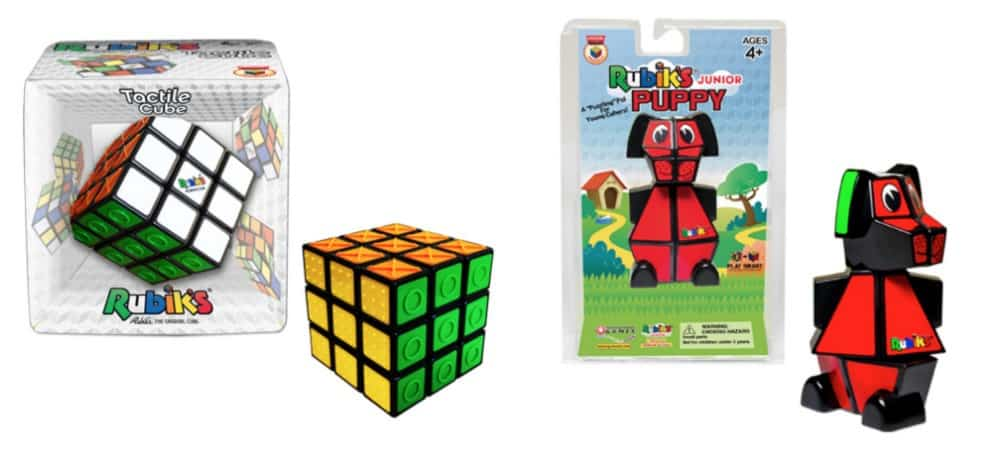 Rubik's Cube Tactile Cube and Junior Puppy