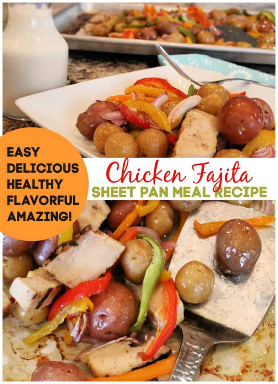 Easy, Healthy Chicken Fajita And Veggies Sheet Pan Meal {Recipe} 8