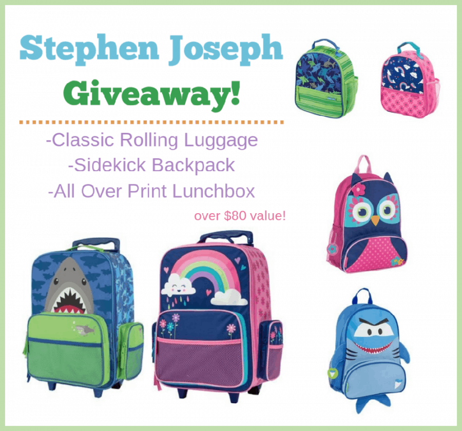 Stephen Joseph Kids Luggage Trio Giveaway