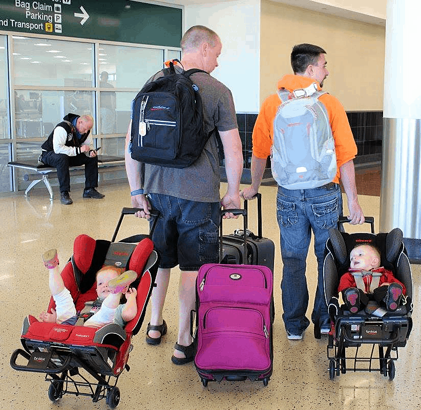 The Best Flying With Kids Hacks - carseat travel cart
