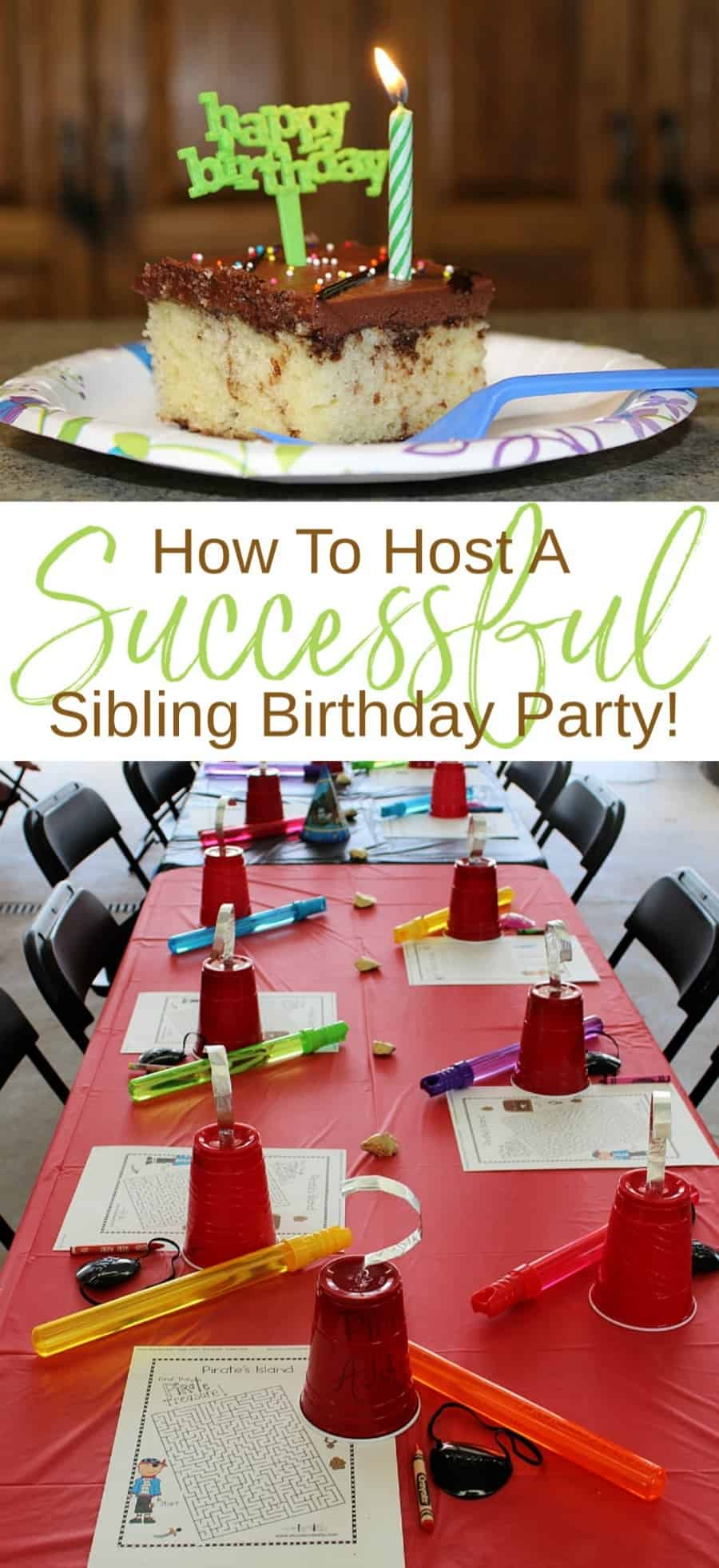 How To Host A Successful Sibling Birthday Party