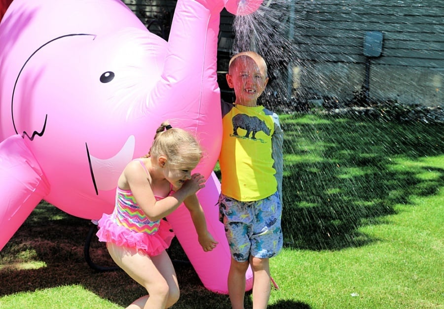 How To Host A Successful Sibling Birthday Party - Giant Sprinkler 2
