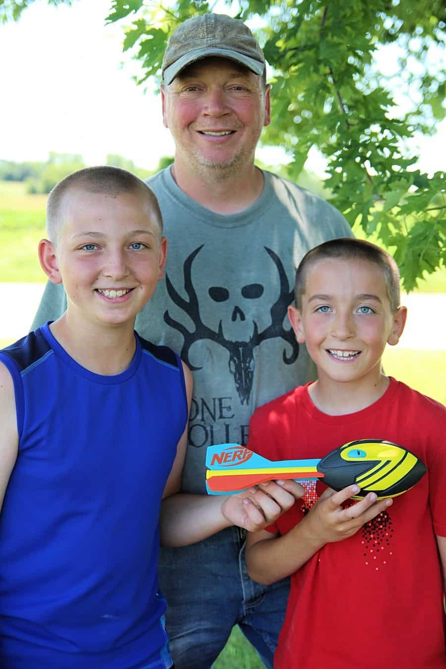 25 Affordable Or Free Kids Activities For Your Backyard - Nerf Vortex Football