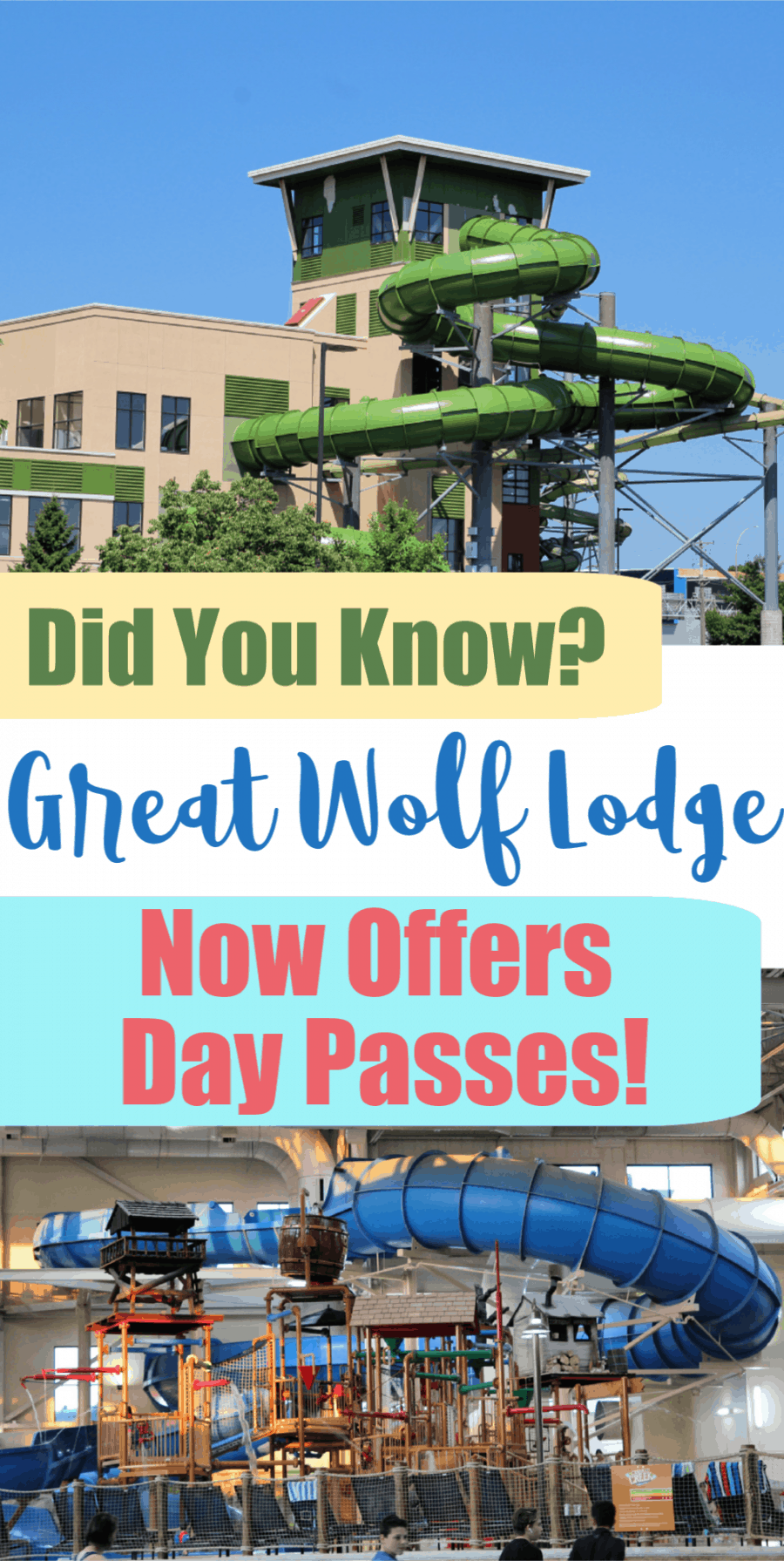 Did You Know Great Wolf Lodge Day Passes Are Now Available!?
