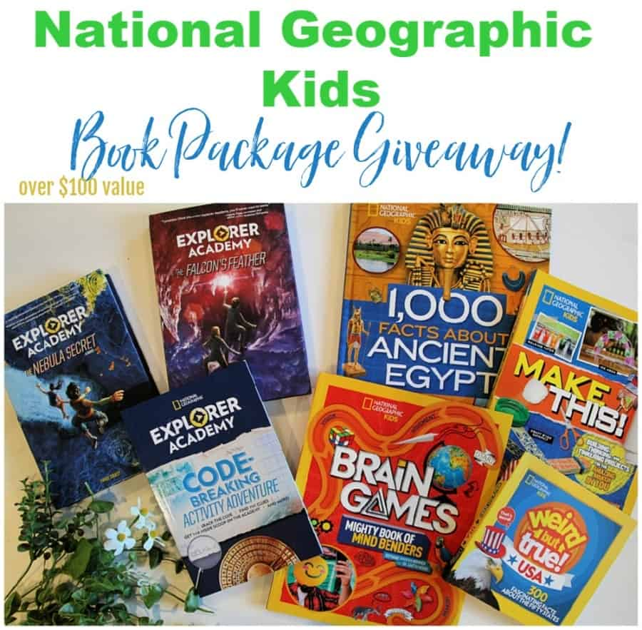 National Geographic Kids Books Giveaway - Enter to win this collection of Nat Geo Kids Books valued at over $100!