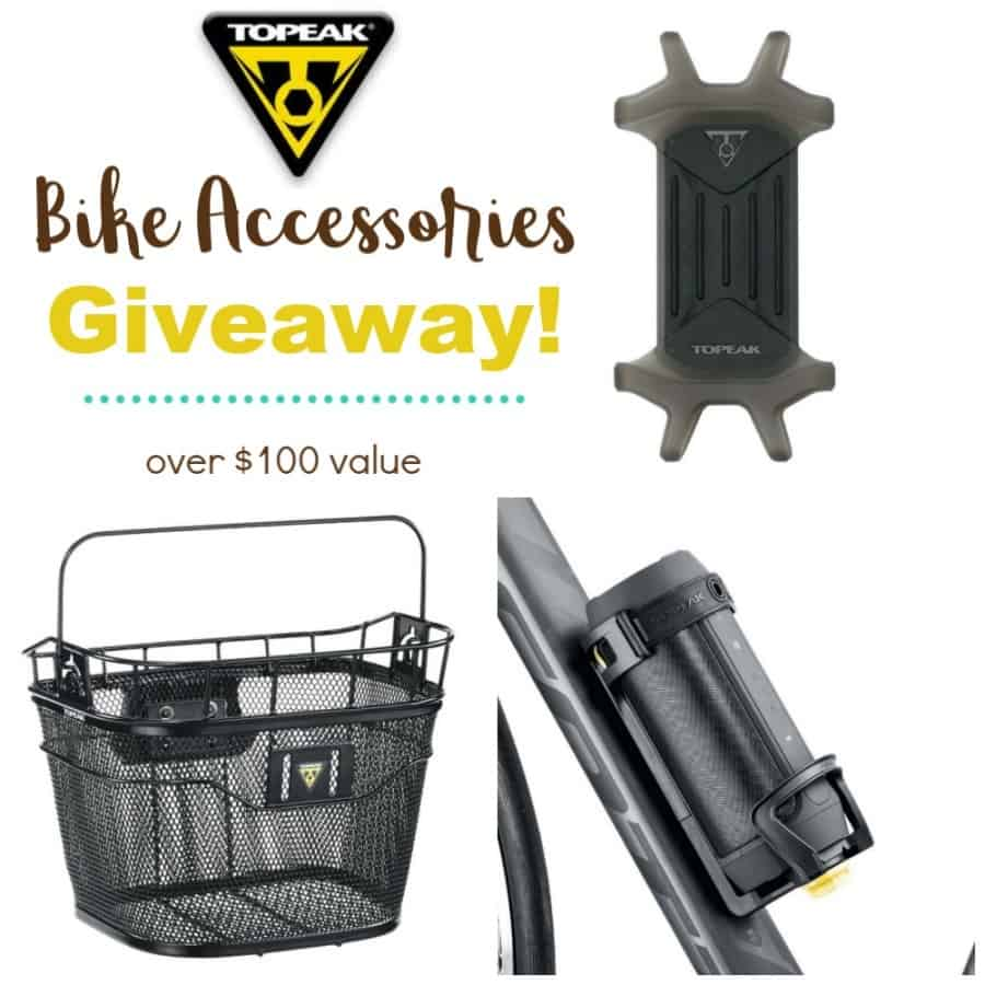 Topeak Bike Accessories Giveaway - Enter to win a Front Basket, Phone Holder, & Java Cage! Over $100 VALUE!