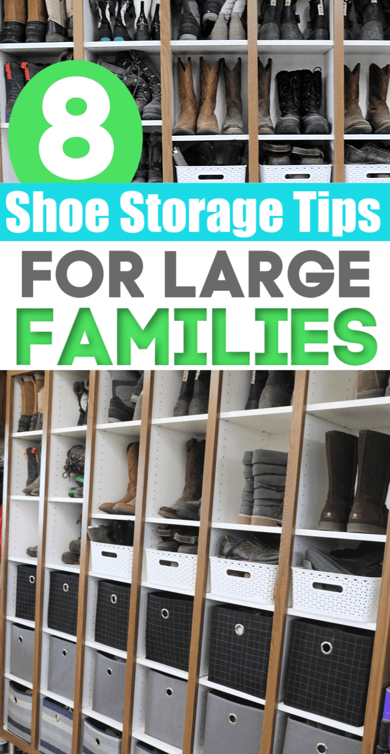 8 Shoe Storage Tips For Large Families + How To Afford Shoes For Everyone In The Family
