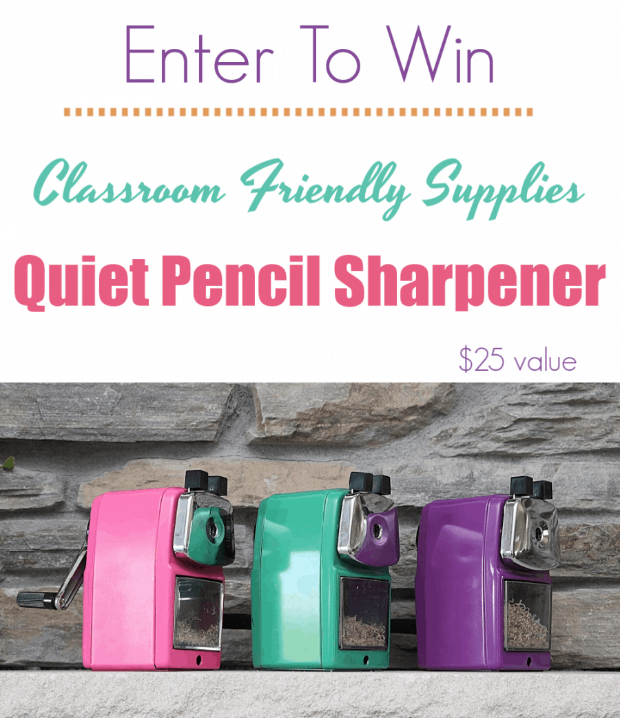 Classroom Friendly Supplies Pencil Sharpener Giveaway